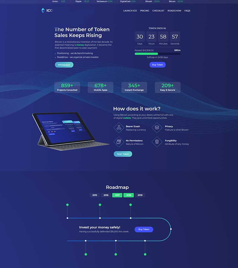 Ico Landing Page Website